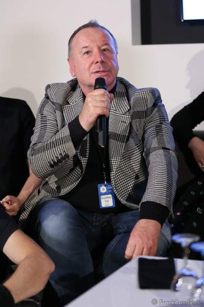 Jim Kerr von Simple Minds bei der Pressekonferenz zur Premiere von Night of the Proms 2016 in der SAP Arena Mannheim