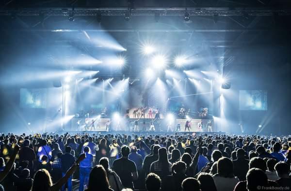 Lightshow bei neuer Show MYSTORIAL von DJ BoBo bei der großen Weltpremiere am 13. Januar 2017 im Europa-Park Rust