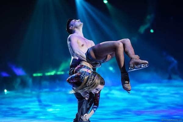 Kseniia Chepizhko und Marco Garavaglia bei der Eisshow TIME von Holiday on Ice in der SAP Arena Mannheim