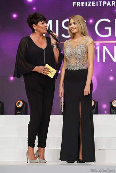 Miss Germany 2017 Soraya Kohlmann beim Interview bei der Wahl zur Miss Germany 2017 im Europa-Park am 18. Februar 2017