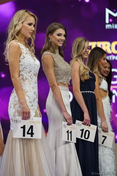 Die finalen Kandidatinnen bei der Miss Germany 2017 Wahl im Europa-Park