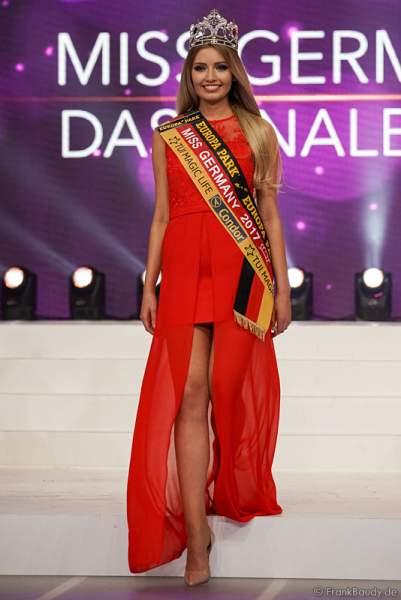 Die Krönung der Miss Germany 2017 Soraya Kohlmann im Europa-Park am 18. Februar 2017