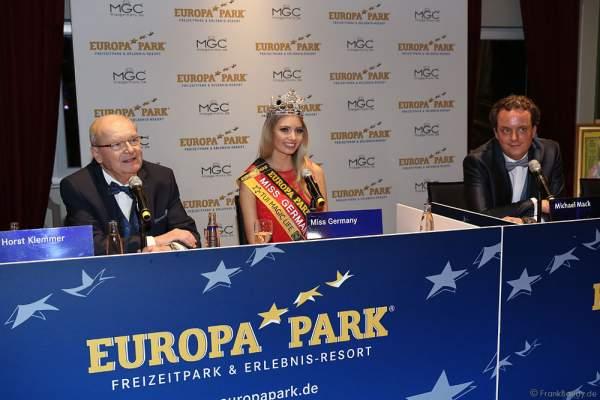 Pressekonferenz mit Miss Germany 2017 Soraya Kohlmann nach der Wahl zur Miss Germany 2017 im Europa-Park am 18. Februar 2017