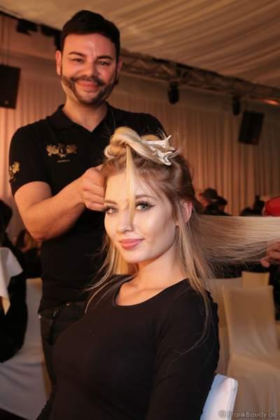 Backstage bei den Vorbereitungen zur Miss Germany 2017 Wahl im Europa-Park am 18. Februar