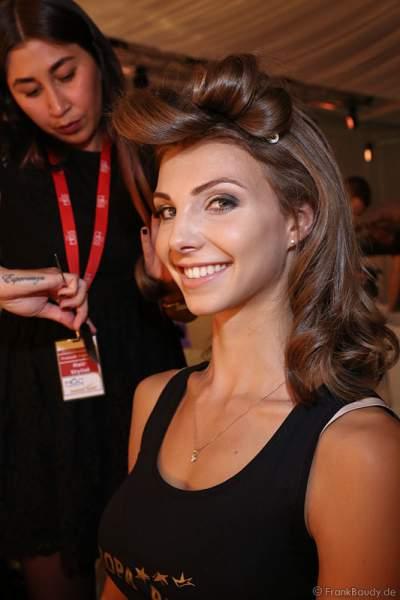 3. Miss Germany 2017 Sarah Strauß (Miss Bremen 2017) Backstage bei den Vorbereitungen zur Miss Germany 2017 Wahl im Europa-Park am 18. Februar