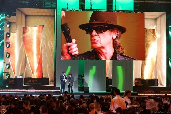 Udo Lindenberg beim PRG Live Entertainment Award (LEA) 2017 in der Festhalle Frankfurt