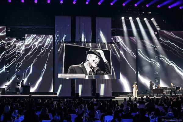 Auftritt der Sängerin Love Newkirk beim PRG Live Entertainment Award (LEA) 2017 in der Festhalle in Frankfurt