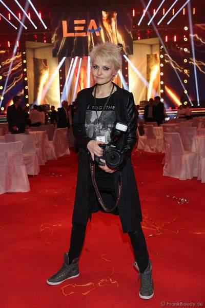 Tine Acke, Freundin - Lebensgefährtin von Udo Lindenberg, auf der After-Show-Party beim PRG Live Entertainment Award (LEA) 2017 in der Festhalle in Frankfurt