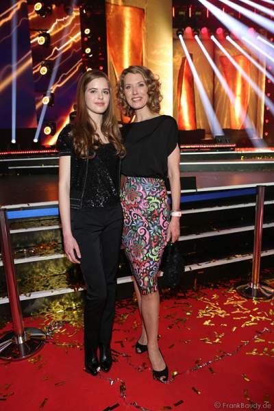 Franziska Reichenbacher und ihre Tochter Serafina beim PRG Live Entertainment Award (LEA) 2017 in der Festhalle in Frankfurt
