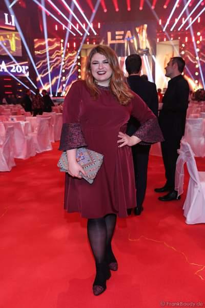 Sängerin Alina Wichmann beim PRG Live Entertainment Award (LEA) 2017 in der Festhalle in Frankfurt
