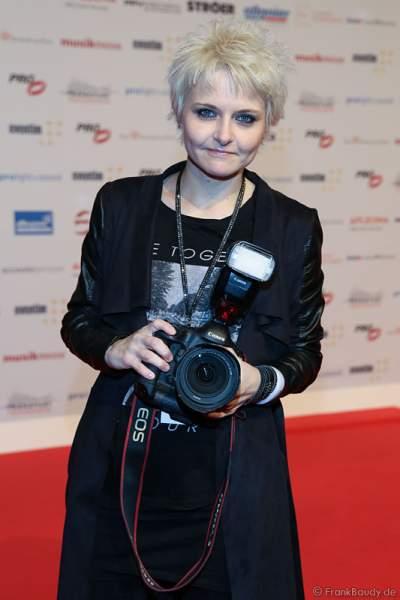Tine Acke, Freundin - Lebensgefährtin von Udo Lindenberg, beim PRG Live Entertainment Award (LEA) 2017 in der Festhalle in Frankfurt