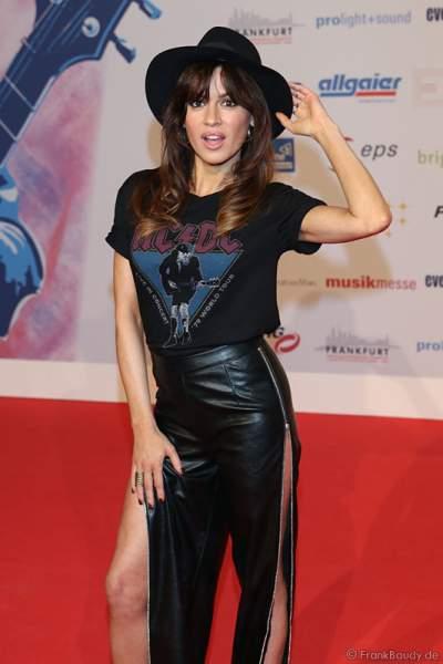 Natalia Avelon (bürgerlich Natalia Siwek) beim PRG Live Entertainment Award (LEA) 2017 in der Festhalle in Frankfurt