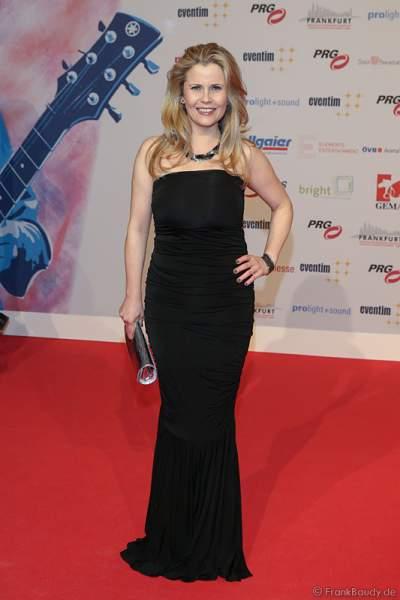 Michaela Schaffrath auf dem roten Teppich beim PRG Live Entertainment Award (LEA) 2017 in der Festhalle in Frankfurt