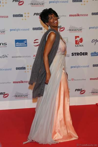 Love Newkirk auf dem roten Teppich beim PRG Live Entertainment Award (LEA) 2017 in der Festhalle in Frankfurt