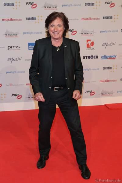 Olaf Malolepski, ex Flippers Sänger auf dem roten Teppich beim PRG Live Entertainment Award (LEA) 2017 in der Festhalle in Frankfurt