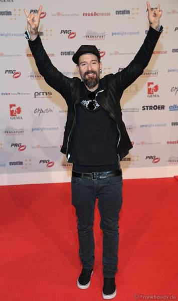 Daniel Wirtz auf dem roten Teppich beim PRG Live Entertainment Award (LEA) 2017 in der Festhalle in Frankfurt