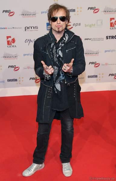 Tobias Sammet auf dem roten Teppich beim PRG Live Entertainment Award (LEA) 2017 in der Festhalle Frankfurt