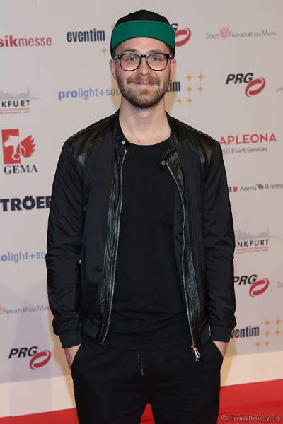 Mark Forster beim PRG Live Entertainment Award (LEA) 2017 in der Festhalle in Frankfurt