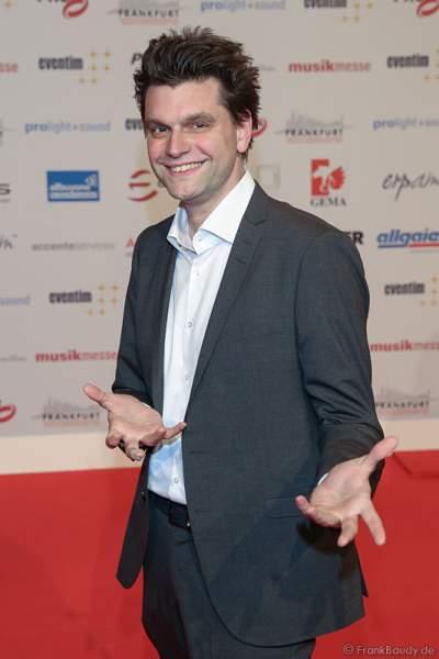 Comedian Lutz van der Horst auf dem roten Teppich beim PRG Live Entertainment Award (LEA) 2017 in der Festhalle in Frankfurt