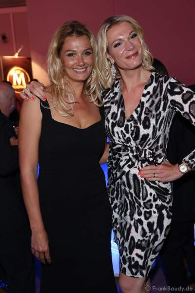 Franziska van Almsick und Maria Hoefl-Riesch auf der After-Show-Party beim Radio Regenbogen Award 2017 am 07. April in der Europa-Park Arena in Rust