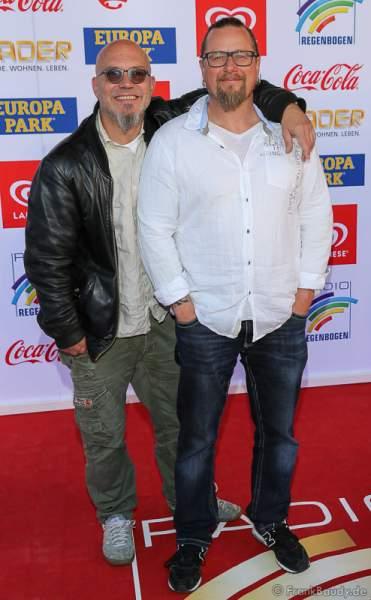 Comedy-Duo Mundstuhl aus Frankfurt am Main (Komikern Ande Werner und Lars Niedereichholz) beim Radio Regenbogen Award 2017 am 07. April in der Europa-Park Arena in Rust