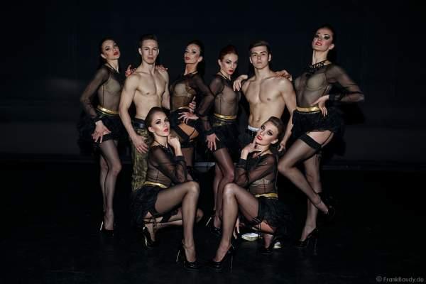 Europa-Park Showballett beim Opening der Party-Show Night.Beat.Angels 2017 im barocken Teatro dell'Arte - Europa-Park