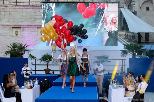 Team Deutschland Camilla Schenkel, Soraya Kohlmann und Nina Kiehnle beim 2. Europäischen Missen TEAM-Cup am 6. Juli 2017 im Europa-Park in Rust