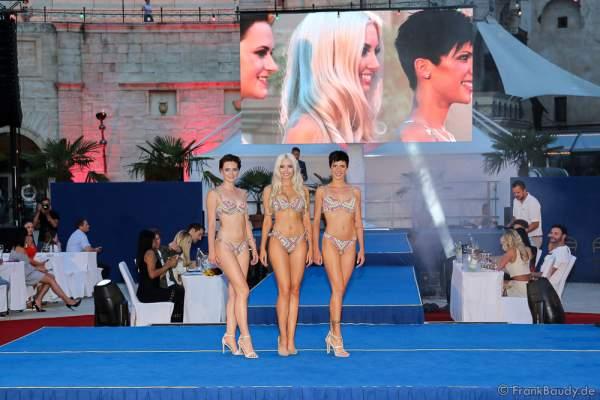 Team Deutschland Camilla Schenkel, Soraya Kohlmann und Nina Kiehnle im Bikini beim 2. Europäischen Missen TEAM-Cup am 6. Juli 2017 im Europa-Park in Rust