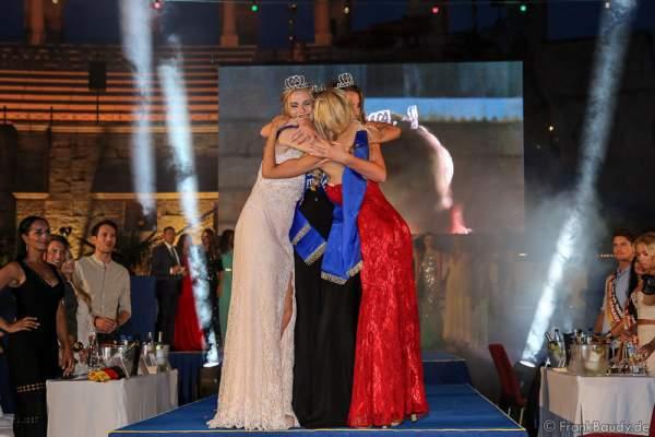 Gewinnerteam Niederlande Vienne Passchier, Zoé Niewold und Floor Masselink beim 2. Europäischen Missen TEAM-Cup am 6. Juli 2017 im Europa-Park in Rust
