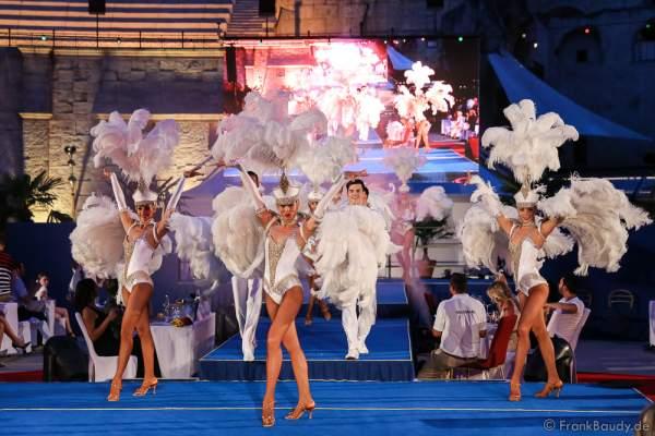 Das Europa-Park Showballett beim 2. Europäischen Missen TEAM-Cup am 6. Juli 2017 im Europa-Park in Rust
