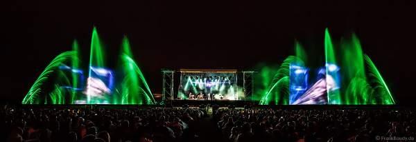 Konzert mit Patricia Kaas beim Festival-Vents-d-Est mit Wassershow bei Art et Lumière 2017 in Furdenheim
