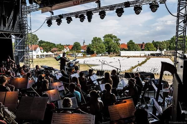 ORSOphilharmonic bei den Proben Backstage beim Festival-Vents-d-Est bei Art et Lumière 2017 in Furdenheim