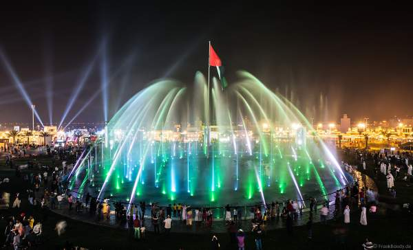 Magnificent water show in the evening at the Sheikh Zayed Heritage Festival 2017/2018 in Abu Dhabi