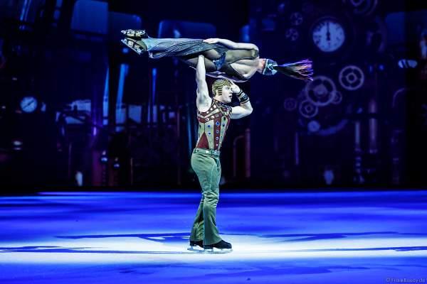 """Evgenii """"Johnny"""" Belianin und Daria """"Dasha"""" Perminova bei der Eisshow ATLANTIS von Holiday on Ice in der Festhalle Frankfurt und SAP Arena Mannheim 2017-2018"""