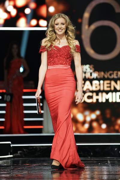 Miss Thüringen 2018, Fabienne Schmidt im Abendkleid beim Miss Germany 2018 Finale in der Europa-Park Arena am 24.02.2018