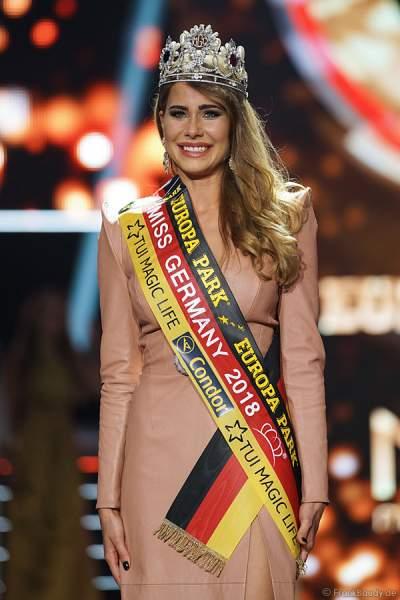 Anahita Rehbein gewinnt die Wahl zur Miss Germany 2018 in der Europa-Park Arena am 24.02.2018