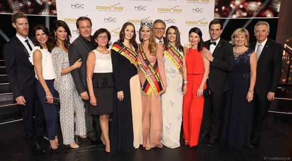 Die Gewinnerinnen des Miss Germany 2018 Finale mit der Familie Mack