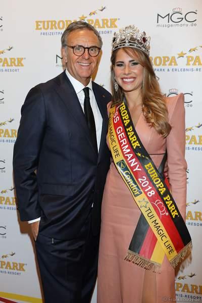 Miss Germany 2018 Anahita Rehbein mit Roland Mack