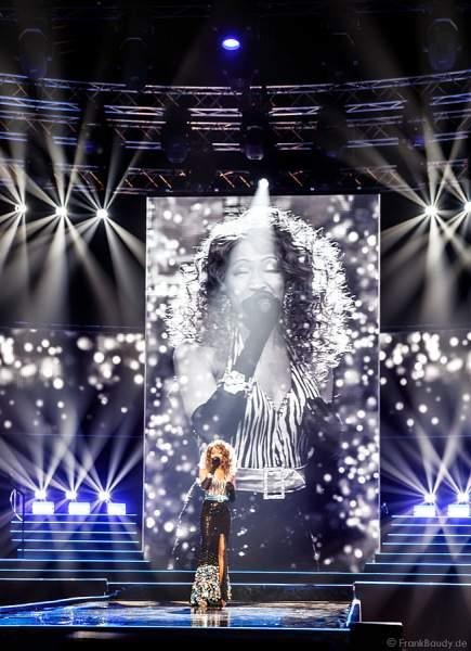 Broadway-Künstlerin N'Kenge Pacurar beim Miss Germany 2018 Finale in der Europa-Park Arena am 24.02.2018