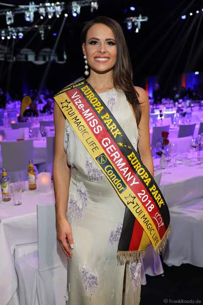 Vize-Miss Germany 2018 Alena Krempl (Miss Westdeutschland 2018) beim Miss Germany 2018 Finale in der Europa-Park Arena am 24.02.2018