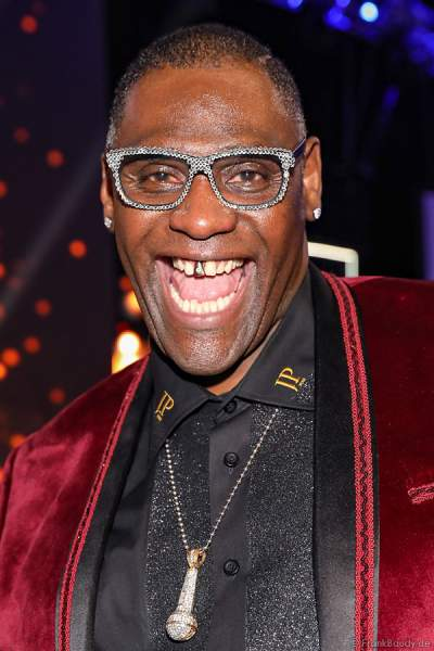 Alphonso Williams, Sänger & Entertainer (DSDS-Sieger), beim Miss Germany 2018 Finale in der Europa-Park Arena am 24.02.2018