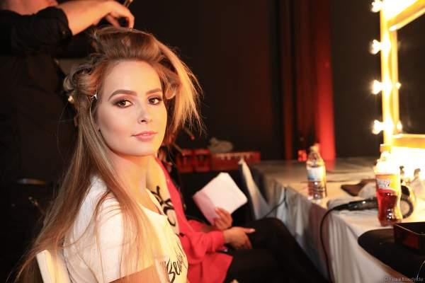 Die Teilnehmerinnen Backstage beim Vorbereiten für das Miss Germany 2018 Finale am Abend in der Europa-Park Arena am 24.02.2018