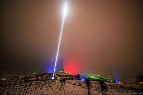 Lichtspektakel auf den Weinbergen bei der Weinbergnacht 2018 in Bad Dürkheim