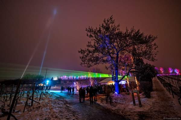Ausschank mit Kuppeltzelt und Lichtshow bei der Weinbergnacht 2018 in Bad Dürkheim
