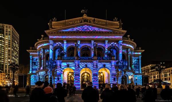 """3D-Mapping """"Changing Times"""" auf der Alten Oper von Karmachina bei der Luminale 2018 in Frankfurt"""