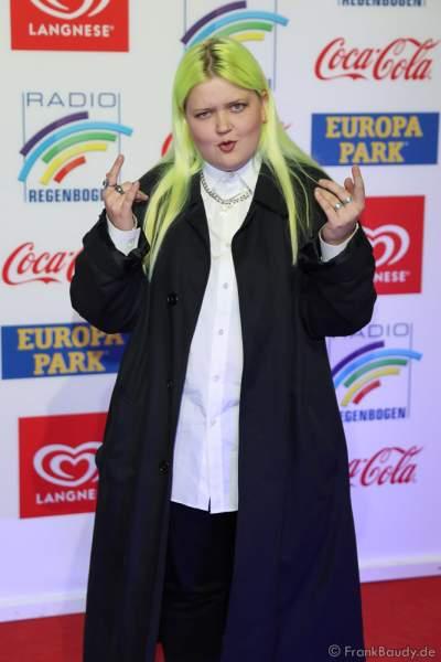 Alma Sofia Miettinen beim Radio Regenbogen Award 2018 am 23. März in der Europa-Park Arena in Rust