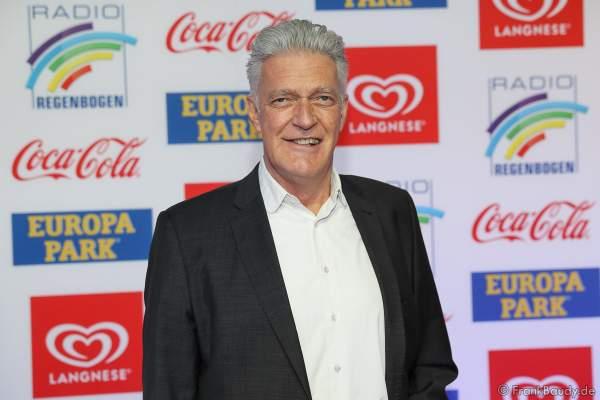 Max Moor (eigentlich Dieter Moor) beim Radio Regenbogen Award 2018 am 23. März in der Europa-Park Arena in Rust