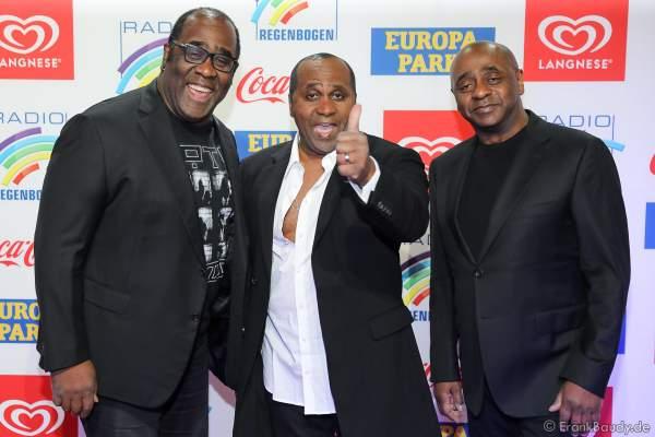 Gibson Brothers (Christian, Alex und Patrick Gibson) beim Radio Regenbogen Award 2018 am 23. März in der Europa-Park Arena in Rust