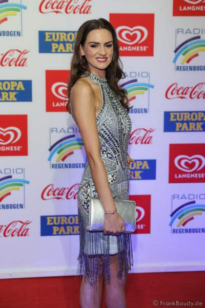 Lena Bröder (Miss Germany 2016) beim Radio Regenbogen Award 2018 am 23. März in der Europa-Park Arena in Rust