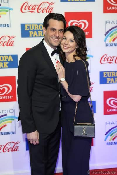 Thomas Mack mit Ehefrau Katja Mack beim Radio Regenbogen Award 2018 am 23. März in der Europa-Park Arena in Rust